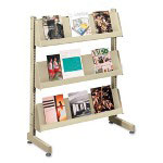 "Hon Floor Stand Literature Rack, 9 PCKT, 29""Wx13""Dx42""H, Putty"