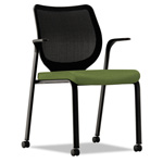 Hon Nucleus Multipurpose Chair, Black ilira-stretch M4 Back, Clover Seat, Black