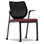 Hon Nucleus Multipurpose Chair, Black ilira-stretch M4 Back, Wine Seat, Black