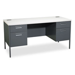 Hon Metro Classic Series Kneespace Credenza, Gray Patterned/Charcoal, 60 x 24