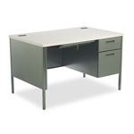 "Hon Metro Classic Series Right Pedestal Desk, 48"" x 30"", Gray/Charcoal"