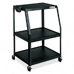 "Hon PF144EP Black Wide TV/VCR Cart with Electrical Unit, 32"" x 27 1/2"" x 44"""