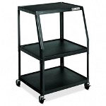 "Hon PF144P Black Wide TV/VCR Cart, 32"" x 27 1/2"" x 44"""