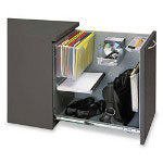 Hon Flagship Mobile Right Pedestal File, W/Tub, 15w x 22 7/8d x 28h, Charcoal