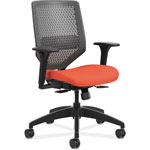 Hon Solve Series ReActiv Back Task Chair, Bittersweet/Charcoal