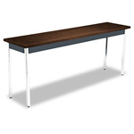 "Hon Rectangular Non Folding Utility Table, 72""x18""x29"", Columbian Walnut/Black"