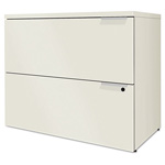"Hon Voi Two-Drawer Lateral File, 36""x20""x29 1/2"", Silver Mesh"
