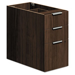 "Hon Voi Box/Box/File Support Pedestal, 16""x30""x28 1/2"", Columbian Walnut"