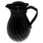 Hormel Poly Lined Black Swirl Design Carafe, 40 oz. Capacity
