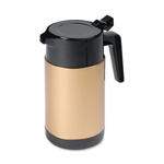 Hormel Poly Lined Black/Gold Carafe with Snap Off Lid, 40 oz. Capacity