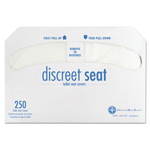 Hospeco Discreet Half-Fold Toilet Seat Covers, White, 250/Pack, 20 Packs/Carton
