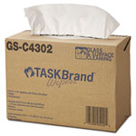 Hospeco TASKBrand Glass & Surface Wipers, 4Ply, 9 4/5 x 17, White, 150/Box, 6 Box/Carton