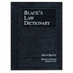 Houghton Mifflin Black's Law Dictionary, 8th Edition, Standard Edition, Hardcover, 1810 pages