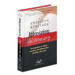 American Heritage® Abbreviations Dictionary, Hardbound, Third Edition