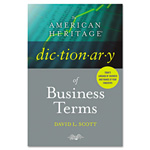 American Heritage® Dictionary of Business Terms, Hardcover, 608 Pages