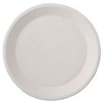 "Chinet Savaday Molded Fiber Dinnerware, Plate, 9"" dia, White, 125/Pack, 4 Packs/Carton"