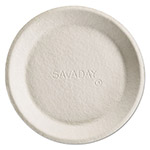 Chinet Savaday Molded Fiber Plate, 8 Inches, White, Round, Non-Tipping