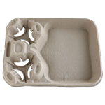 Chinet Strongholder Molded Fiber Cup/food Trays, 8-44oz, 2-Cup Capacity, 100/carton