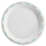 "Chinet Molded Fiber Dinnerware, Plate, 10 1/2""Dia, White, Vines Theme"