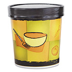 Chinet Streetside Squat Paper Food Container with Lid, Streetside Design, 16 oz