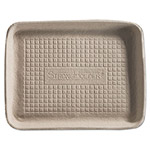 Chinet Savaday Molded Fiber Food Trays, 7 x 9 x 1, Beige, Rectangular