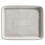 Chinet Savaday Molded Fiber Food Trays, 8 x 10 x 1, White, Rectangular