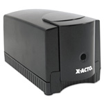 Hunt Deluxe Heavy Duty Electric Pencil Sharpener, Black with Gray Base