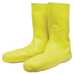 Honeywell Disposable Latex Booties, Large, Slip-Resistant, Yellow
