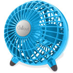 "Honeywell Chillout USB/AC Adapter Personal Fan, Teal, 6""Diameter, 1 Speed"