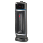 "Honeywell Oscillating Tower Heater, 2 Settings, 7-5/8"" x 7-5/8"" x 21-5/8"", BK"