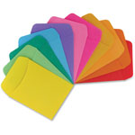 "Hygloss Library Pockets, 3-1/2"" x 5"", 30/PK, Ast"