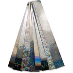 Hygloss Holographic Chain Strips, 72/PK, Silver