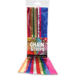 Hygloss Chains Strips, Embossed, 72/PK, Metallic/Ast