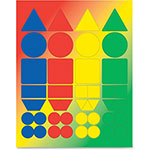 Hygloss Basic Shapes Stickers, Adhesive, 72/PK, Ast