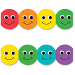 "Hygloss Border Strips, Smiley Face, 3'x36"", 12/PK, Ast"