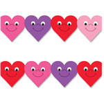 "Hygloss Happy Hearts Border, 3"" x 36"", 12/PK, Ast"