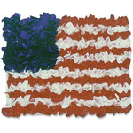 Hygloss American Flag Tissue Craft Kit, 30/PK, Ast