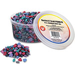 Hygloss Bucket-O-Pebbles, 1lb, Rainbow Fores/Natural
