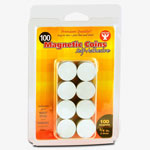 "Hygloss Magnetic Coins, Adhesive, 3/4"", 100/PK"