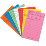 "Hygloss Library Cards, 3"" x 5"", 50/PK, Ast"