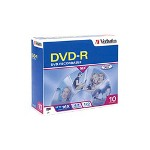 Verbatim 10 x DVD-R - 4.7 GB 16X - Slim Jewel Case - Storage Media