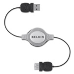 Belkin Retractable - USB Extender - 4 Pin USB Type A (M) - 4 Pin USB Type A (F) - 2.6'