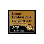 Lexar Professional w/Write Acceleration Technology Flash Memory Card 2 GB 133X CompactFlash