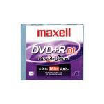 Maxell DVD+R DL - 8.5 GB 2.4X - Jewel Case - Storage Media
