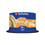 Verbatim LightScribe - 30 x DVD-R - 4.7 GB 16X - LightScribe - Spindle - Storage Media