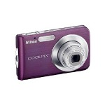 Nikon Coolpix S210 Digital Camera, Plum