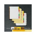 Avery Worksaver Big Tab White Paper Dividers, Extra Wide, 8 Clear Tabs,
