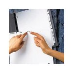 Avery 3 Hole White Dividers, 8 Tab Clear Laser/Ink Jet Labels, 25 Sets/Bx