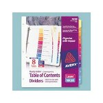 Avery Extra Wide Ready Index Dividers with Multicolor Tabs, Laser/Ink Jet, Tabs 1 5