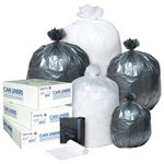 Inteplast Low-Density Can Liner, 40.5 x 45, 55-Gallon, 1.4 Mil, Black, 25/Roll